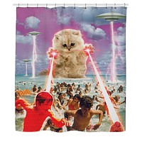 The Kitten No One Loved Shower Curtain