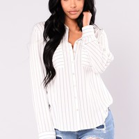 Kassandra Button Down Shirt - Blue