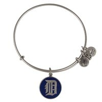 Alex and Ani Navy Detroit Tigers™ Charm Bangle - Russian Silver
