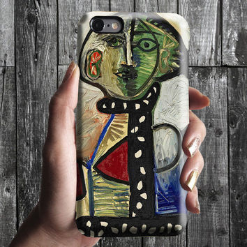 Woman with Chignon - Pablo Picasso iPhone Case 6, 6S, 6 Plus, 4S, 5S. Phone Cell. Art Painting. Gift Idea. Anniversary. Gift for him and her