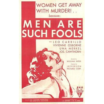 Men Are Such Fools Poster//Men Are Such Fools Movie Poster//Movie Poster//Poster Reprint