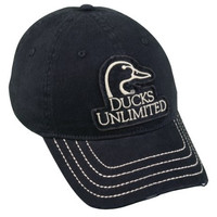 Ducks Unlimited Navy Unstructured Cotton Twill Casual Hat Cap
