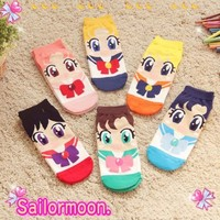 Sailor Moon 20th Anniversary Cosplay Sock Lolita Girls Women Low Cut Ankle Socks