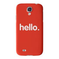 Hello Full Wrap High Quality 3D Printed Case for Samsung Galaxy S4 by textGuy