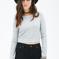FOREVER 21 Waffle Knit Crop Top