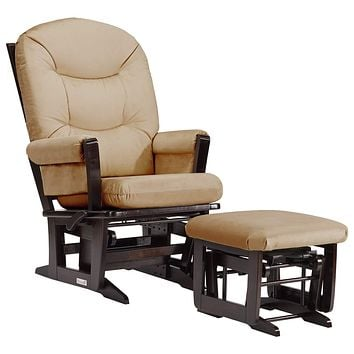 Dutailier Modern 0382 Glider Multiposition-Lock Recline with Ottoman Included Light Brown