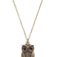 ModCloth Owls Owl or Never Necklace