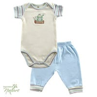 Hudson Baby Touched by Nature Organic Bodysuit & Pant | Affordable Infant Clothing