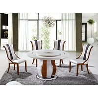 Modern Round Table  Furniture  With Chairs For Dining Decor