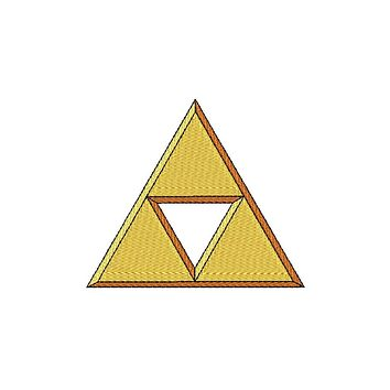 Patch Craft - 3D Zelda Triforce - (Iron On 3 sizes)