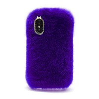For iPhone X Case Cover Luxury Design Cute Rabbit Fur Phone Case Fashionable Fluffy Warm Mobile Phone Protective