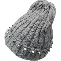Rivets Embellishment Pointed Top Knit Cap = 1958215748
