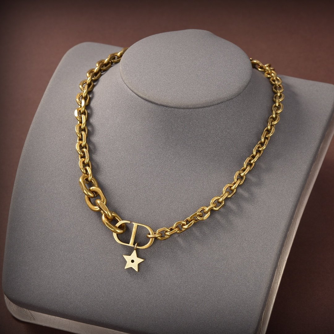 Image of Dior Women's Fashion Accessories Fine Jewelry Ring & Chain Necklace & Earrings