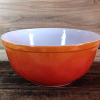 Pyrex Orange Flame Mixing Bowl 403 Flameware Flame Glow Flameglo Hombre Color Nesting Bowls