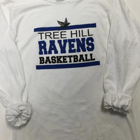One Tree Hill Ravens Basketball Long Sleeve Tee - Fan tee, novelty tee,