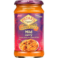 Pataks Simmer Sauce - Mild Curry - Mild - 15 Oz - Case Of 6