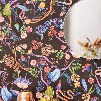 Whimsical Floral Removable Wallpaper   Urban Outfitters