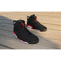 Air Jordan 6 black/red Basketball Shoes 36-47