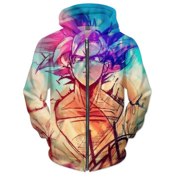 Dragon ball z fan art hoodie