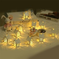 1.5M 10pcs LED Christmas Tree House Style Fairy Light Led String Garland Holiday Decorations for Home