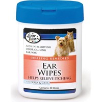 Four Paws Ear Wipes For Dogs & Cats 30 Pack