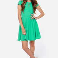 LULUS Exclusive In the Zone Green Dress