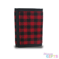 Plaid Fabric Trifold Wallet