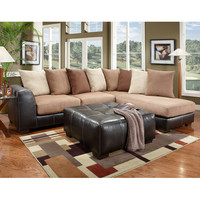 Exceptional Designs Sea Rider Saddle Microfiber L-Shaped Sectional