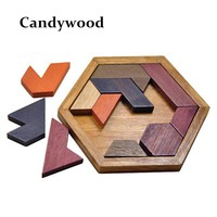 Kids Puzzles Wooden Toys - Board Wood Geometric Shape -  Educational Toys