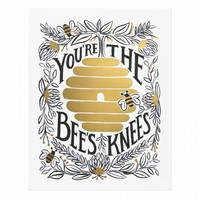 You're the Bee's Knees Art Print by RIFLE PAPER Co. | Made in USA
