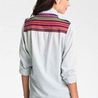 Band of Gypsies Festival Chambray Shirt (Juniors) | Nordstrom