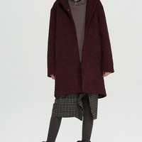 Fussed Heavy Knitted Reagan Coat