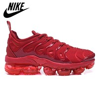 men's running shoes Air VaporMax Plus, triple, red, original, breathable, outdoor,