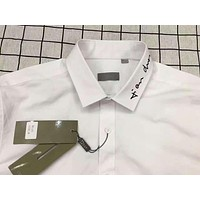 Dior Fashion Long Sleeve Pure Color Embroider Shirting G-A-PPCLZM-ZDL