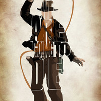 Indiana Jones Print  Harrison Ford  from the Indiana by GeekMyWalL