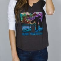 Junk Food Clothing - MTV Henley - Rock - Collections - Womens