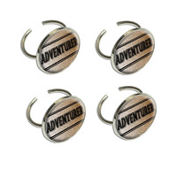 Adventurer Travel Inspiration Napkin Ring Set
