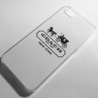 Coach iPhone 4/4S Case - White with Black Logo
