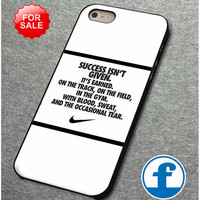 nike quote with logo for iphone, ipod, samsung galaxy, HTC and Nexus Phone Case