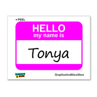 Tonya Hello My Name Is Sticker