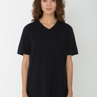 Unisex Power Wash V-Neck T-Shirt | American Apparel