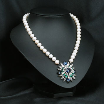 Jewelry Gift Shiny New Arrival Pearls Star Glass Crystal Stylish Accessory Necklace [4914867268]