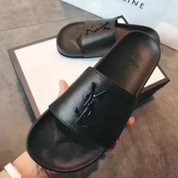 YSL Fashion Ladies Casaul Letter Logo Casual Sandals Slippers
