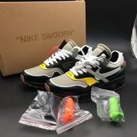 OFF WHITE x Nike Air Max 1 BespokeIND AA7293-001 Sport Running Shoes - Best Online Sale