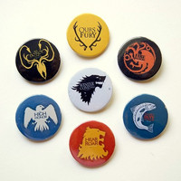 Game of Thrones Great Houses Sigils  button badge set