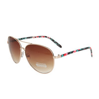 Floral Arm Aviator Sunglasses   Shop Accessories at Wet Seal