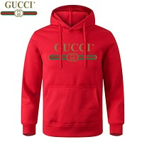 Gucci Multicolor Letters Hood Casual Long Sleeve Pullover Sweater