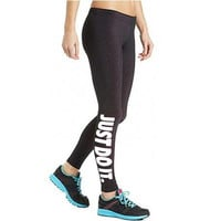 Printed JUST DO IT Leggings