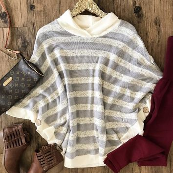 Striped To Perfection Poncho
