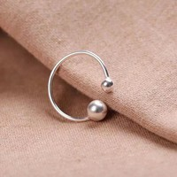 Jisensp Fashion Classic Open Simple Ball Rings for Girls Birthday Gift Women Engagement Ring SYJZ067-in Rings from Jewelry & Accessories on Aliexpress.com | Alibaba Group